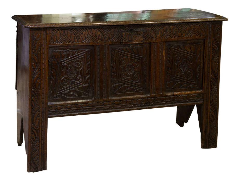 17thc oak coffer