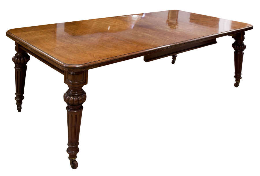 A fine Cuban mahogany dining table c1850