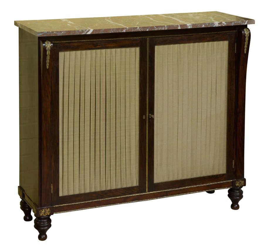 Regency Faux rosewood side cabinet