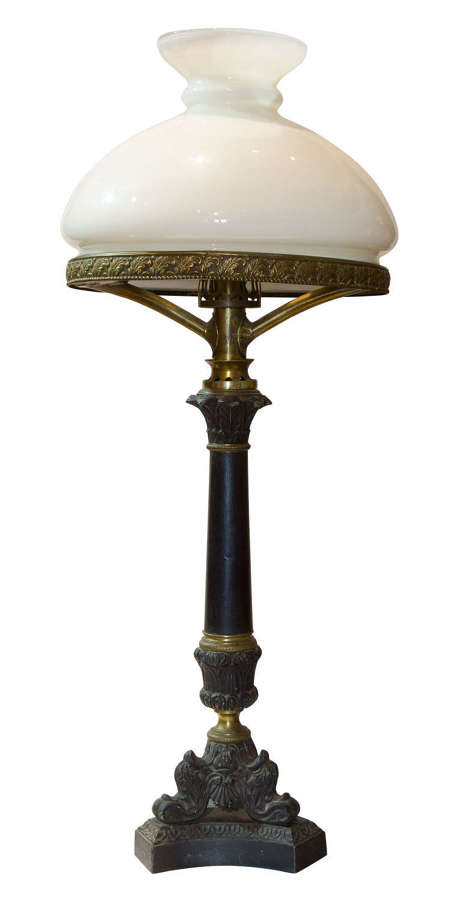 Early 19thc sinumbra lamp