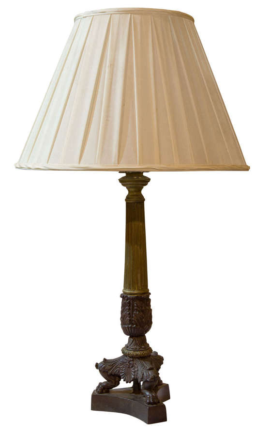 Continental 19thc table lamp