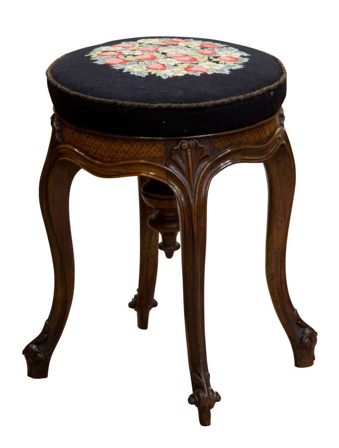 A Rosewood Piano Stool