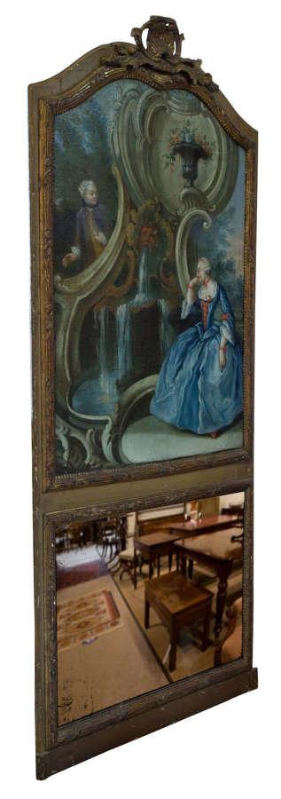 A 19th Century French Trumeau Mirror