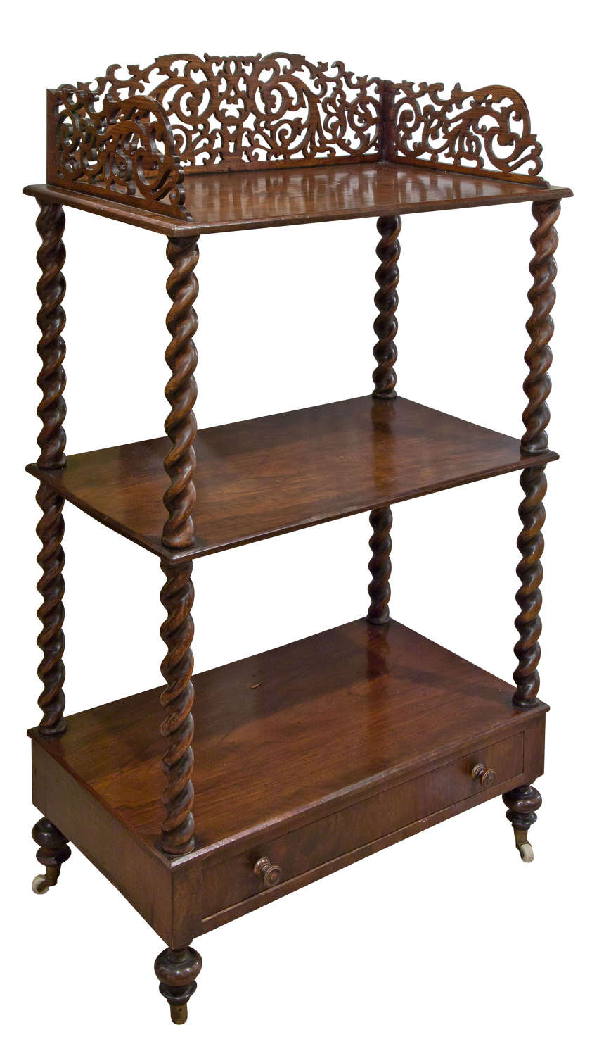 Victorian rosewood what-not circa 1870