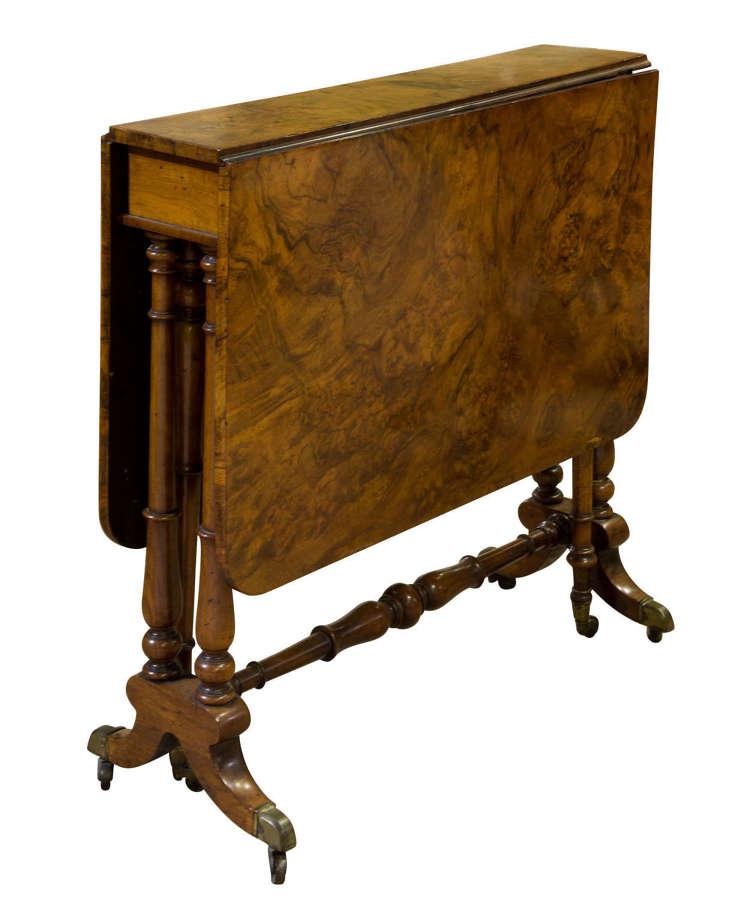 Victorian walnut sutherland table c1870