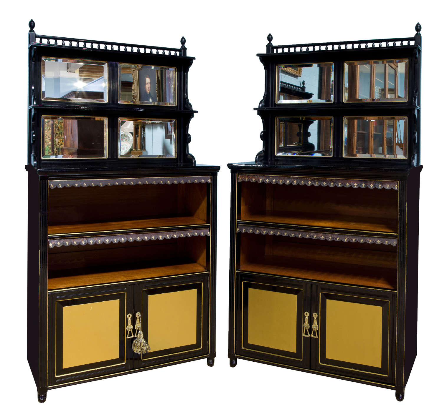 Pair of Aesthetic Movement cabinets c1880