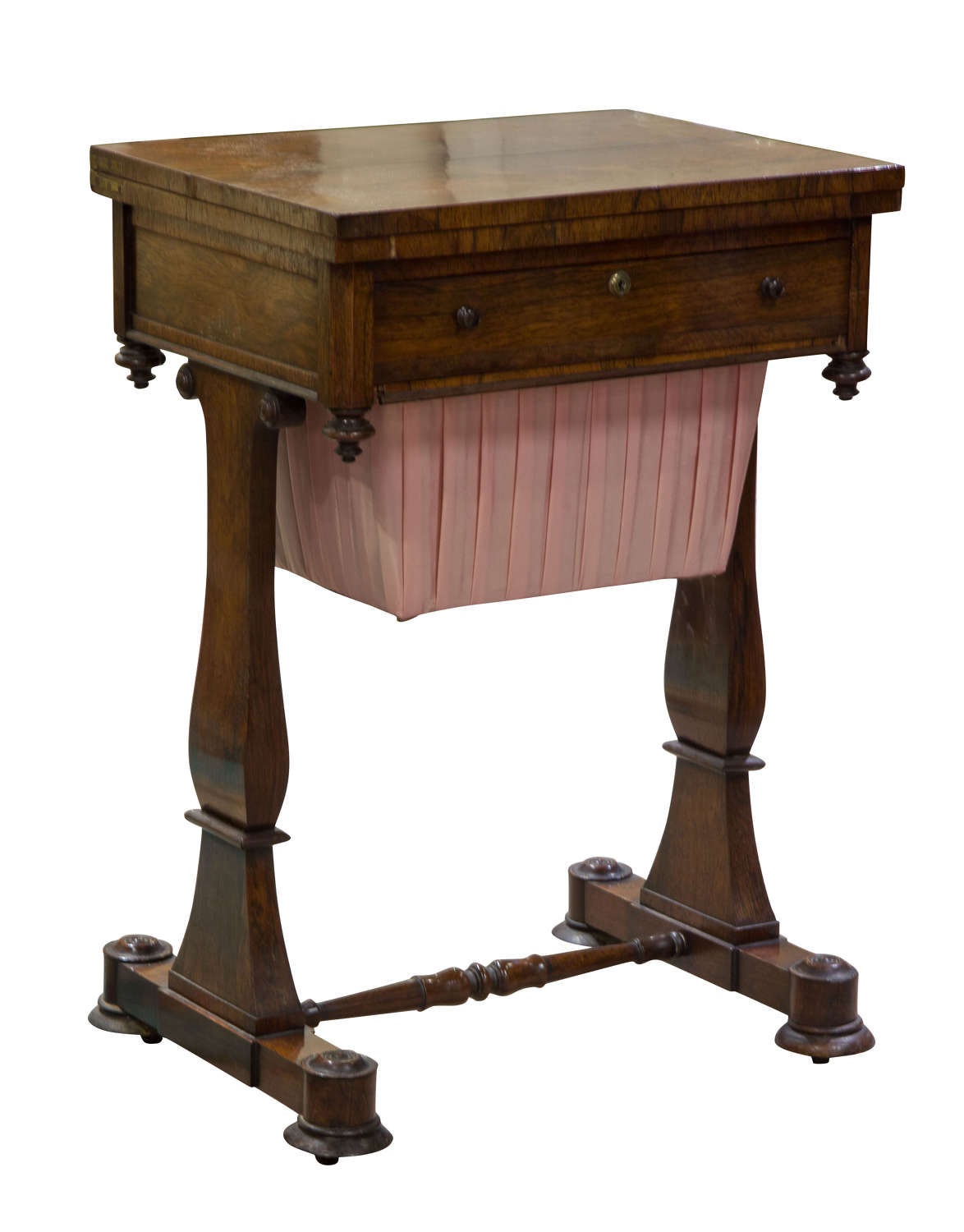 William IV rosewood sewing/work table