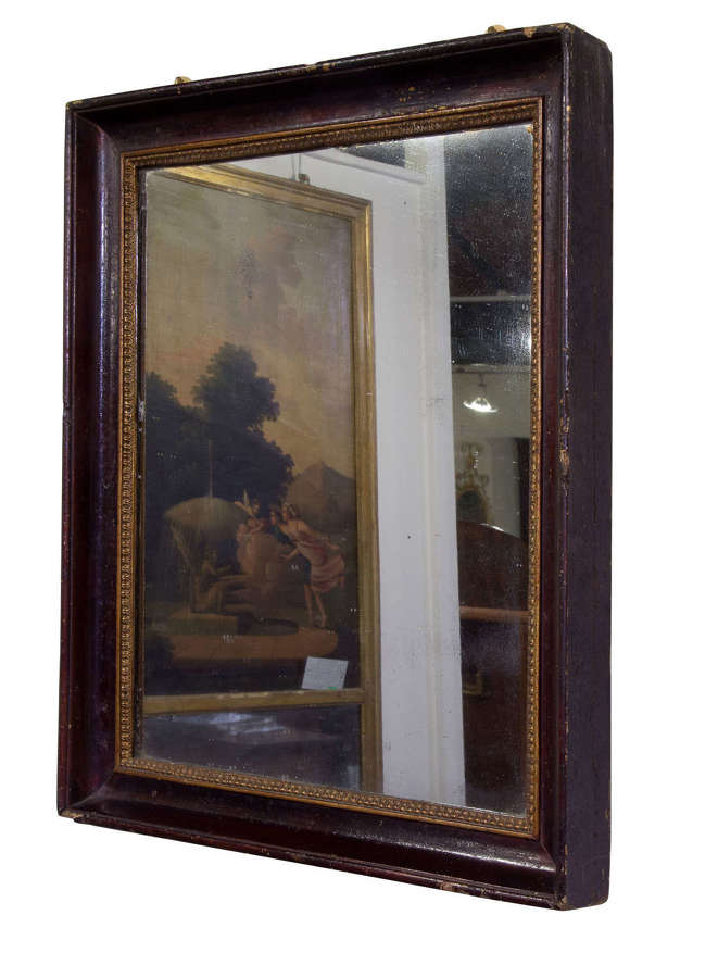 Early mid 19thC French rectangular mirror