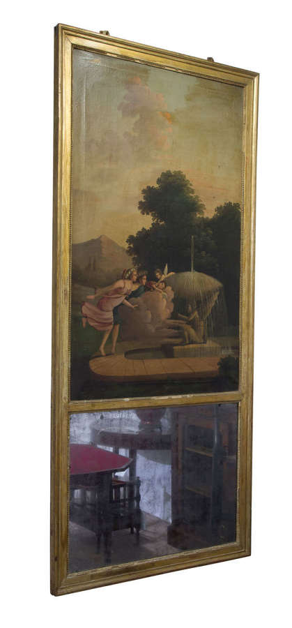 Early 19thC oil on canvas - French Trumeau