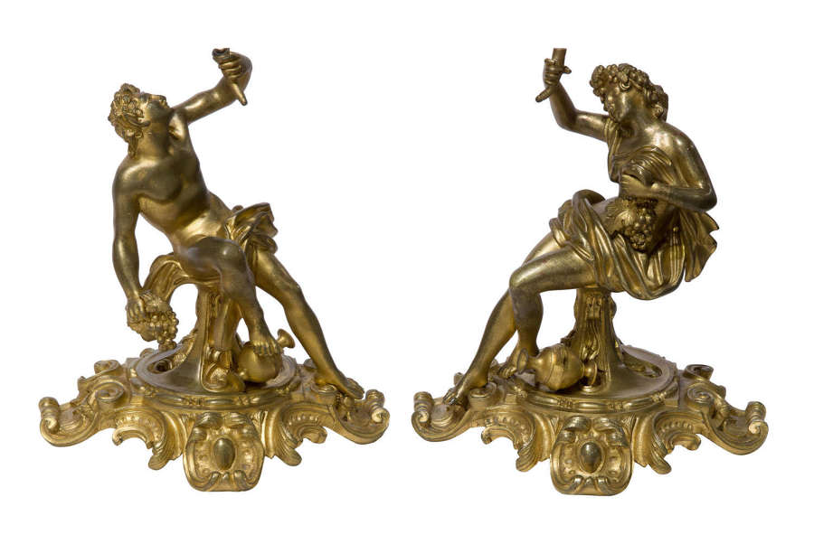 A pair of early 19thCentury gilt bronze figures