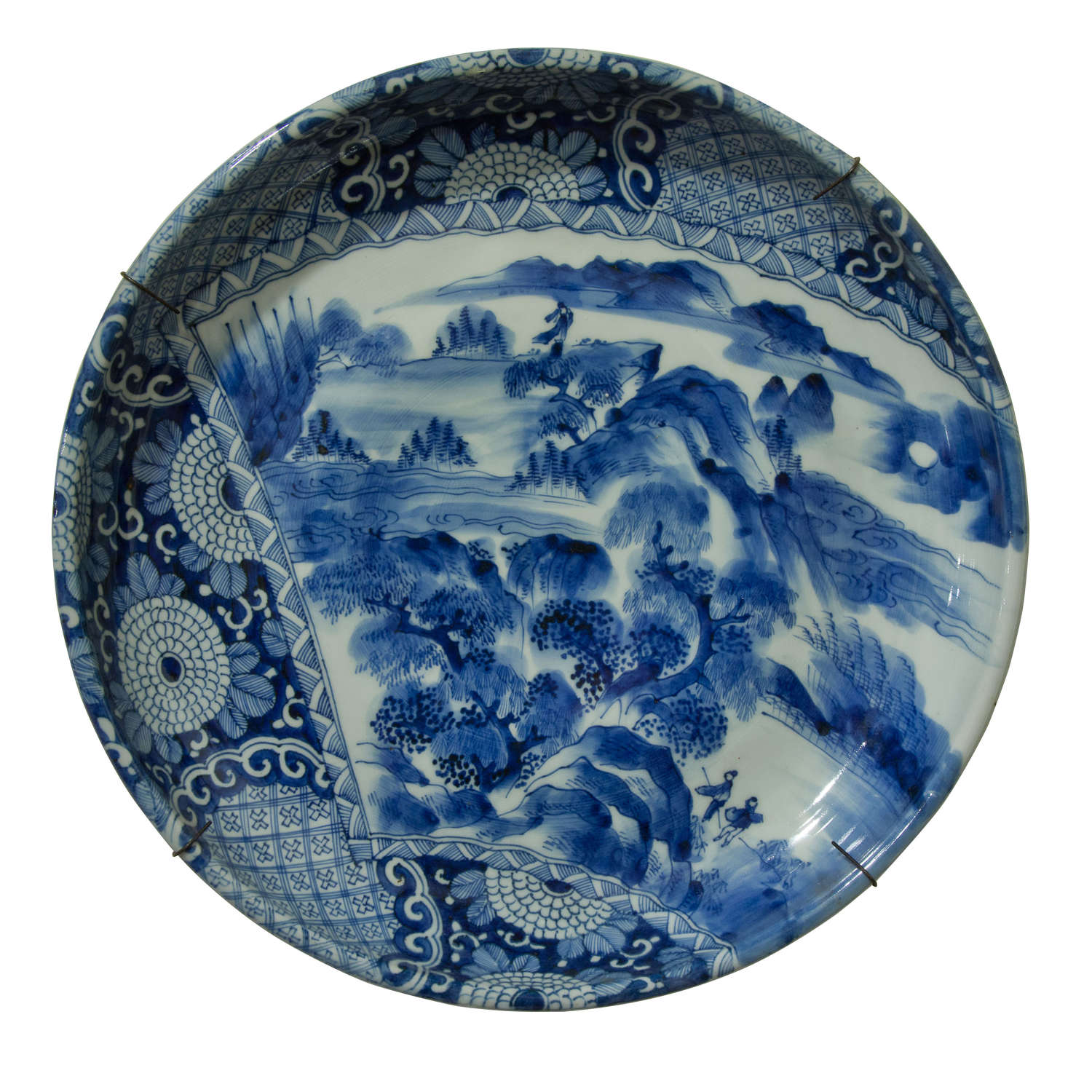 A Japanese Arita Bowl/Charger with rim