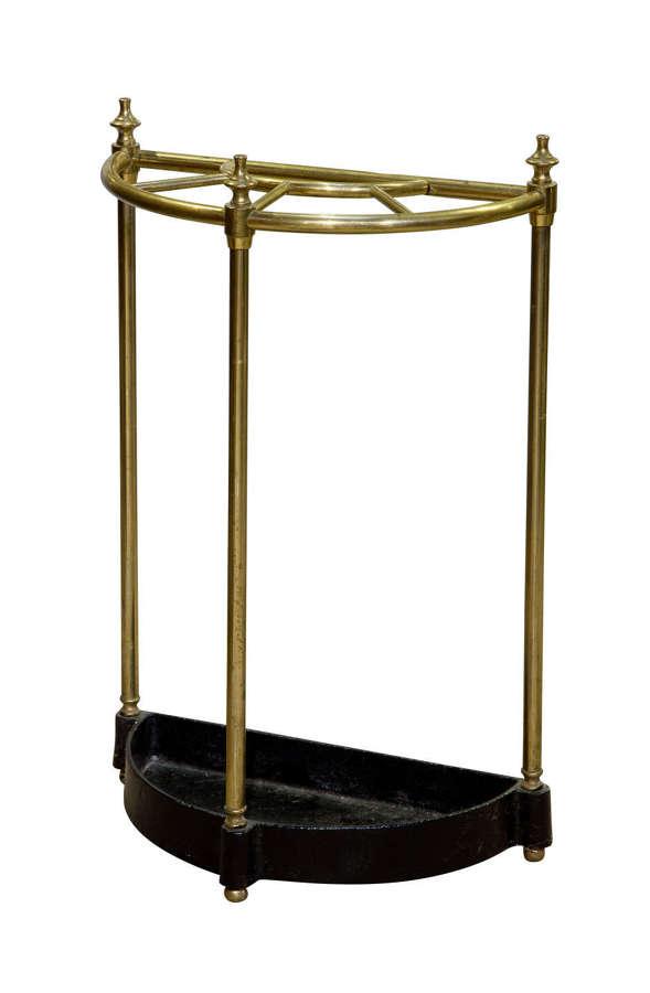 A brass demi-lune umbrella