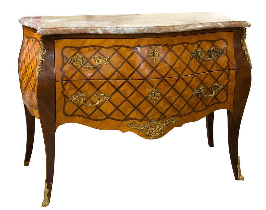 A Louis XV style French commode