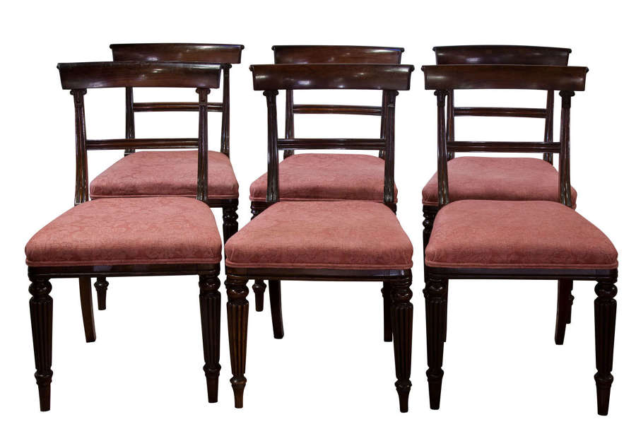 A good set of 6 rosewood bar-back dining chairs