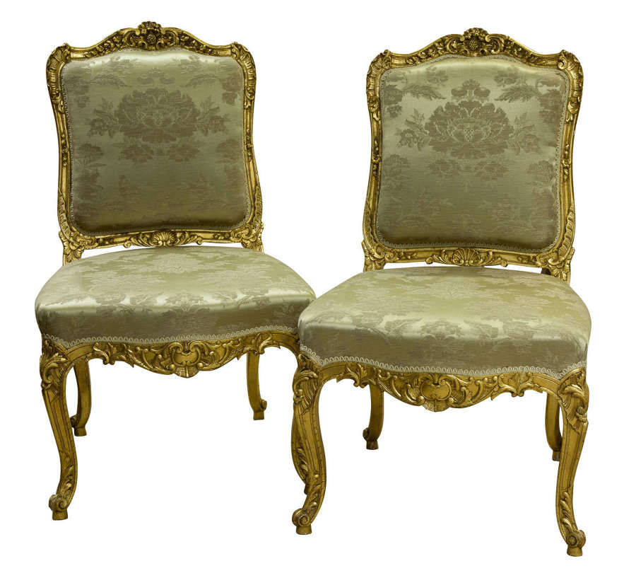 Late 19th Century French giltwood side chairs