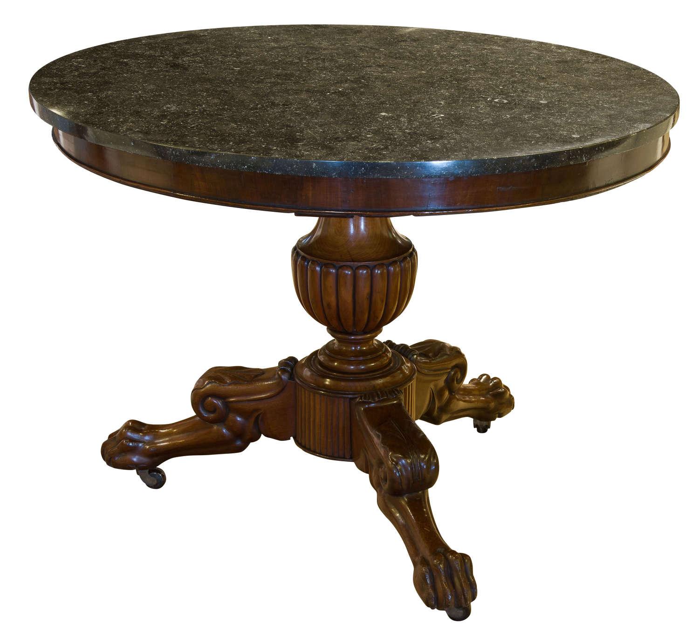 19thCentury French mahogany Napoleon III period Gueridon Table