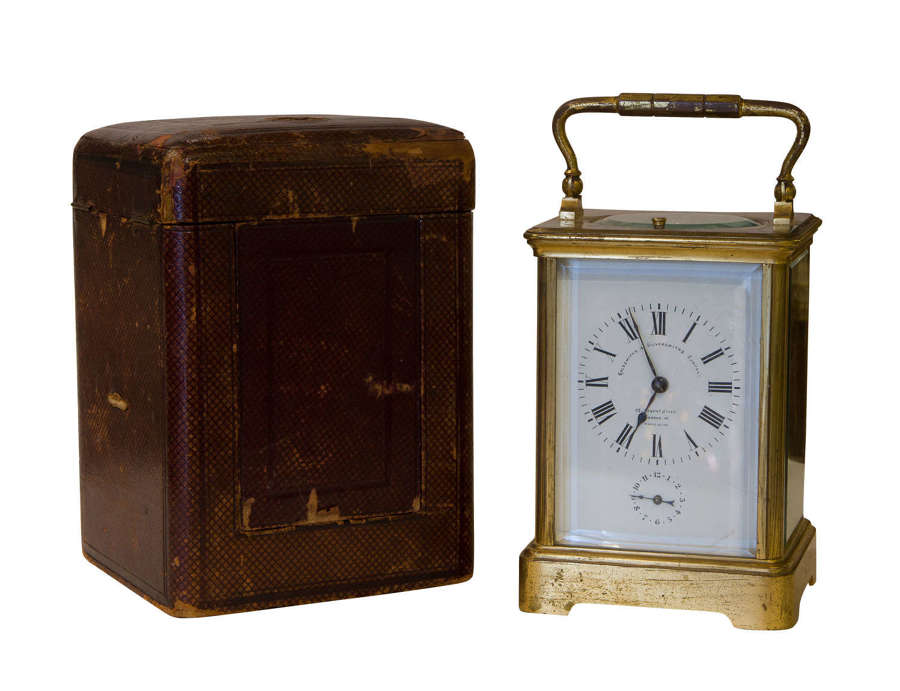 A 1/2 hour Striking & Repeating Carriage Clock with alarm
