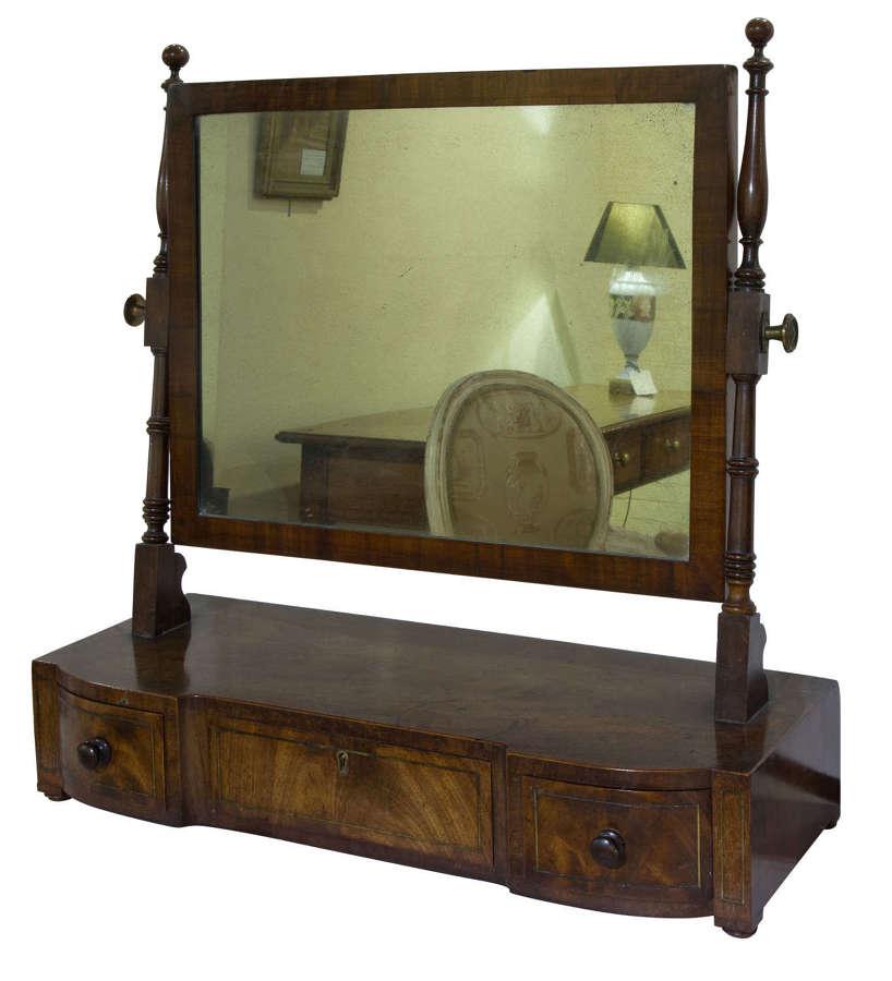 A Regency period mahogany dressing table mirror