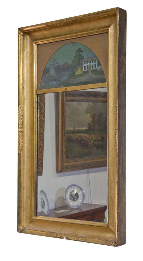 Decorative 19th century pier glass in gift frame