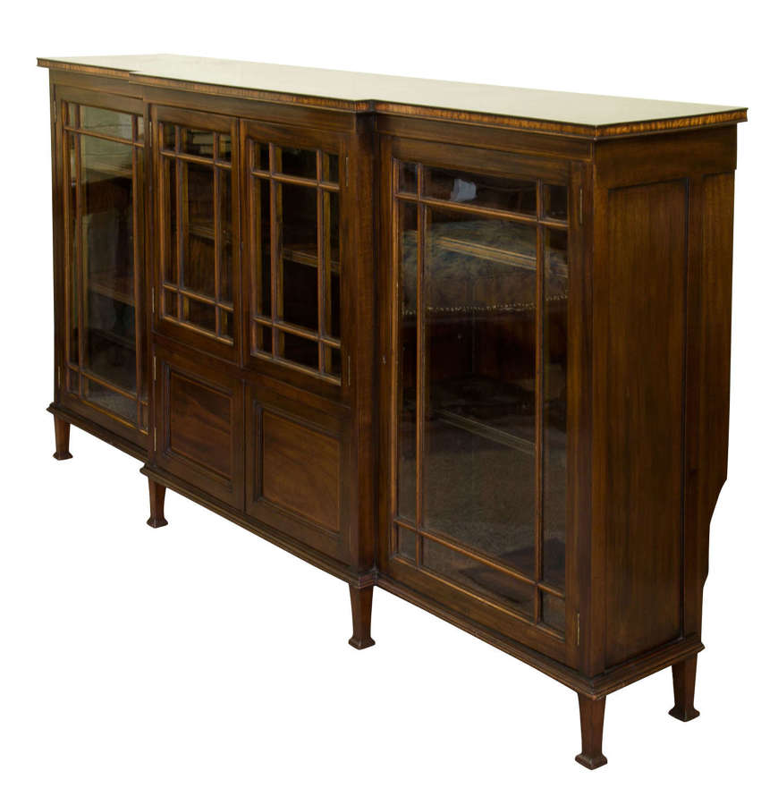 19thC Break Front Bookcase or Side Cabinet