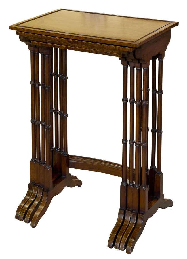 A good set of mahogany Quartetto Tables