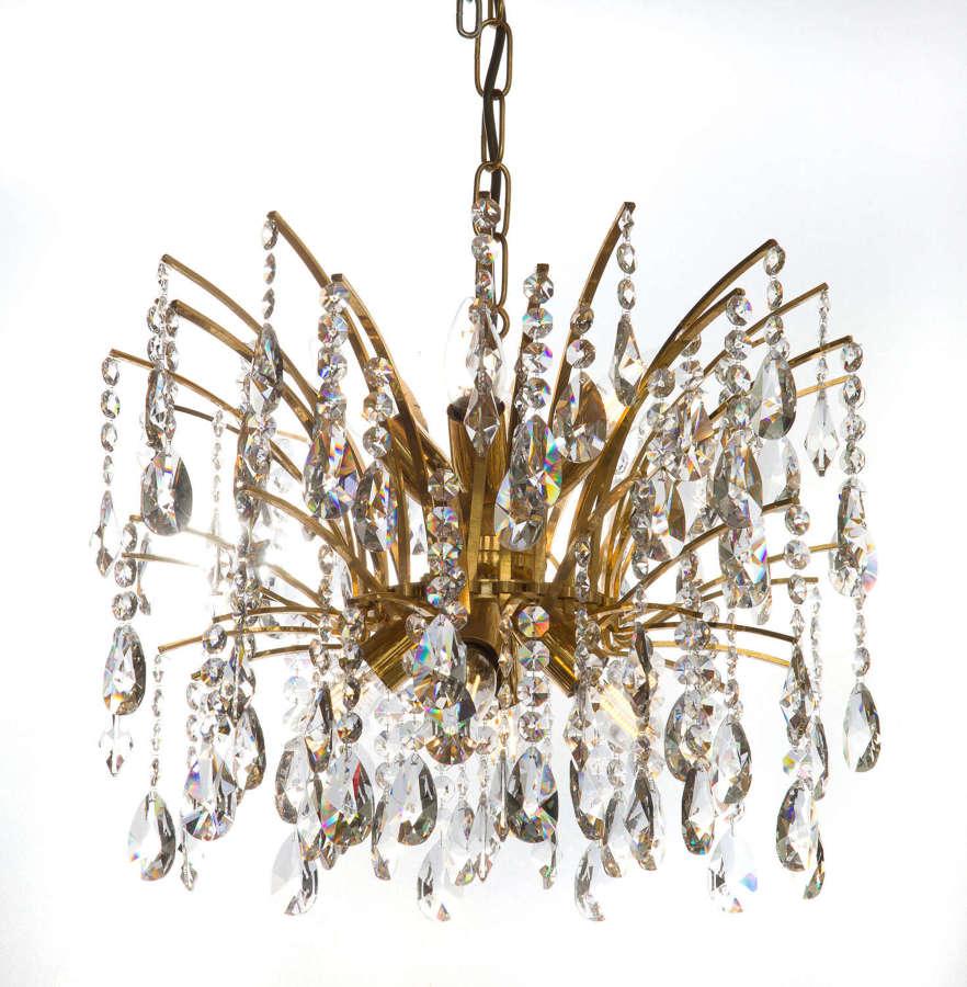 Vintage Swedish 8 light chandelier