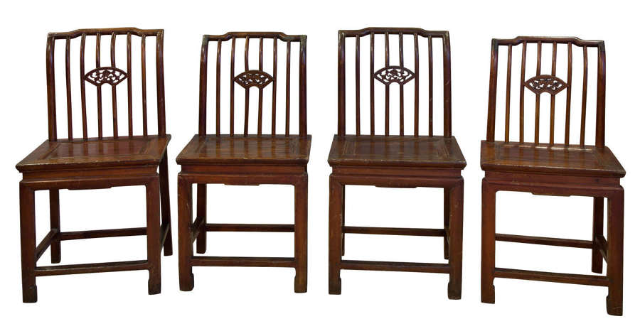 Four Chinese single chairs