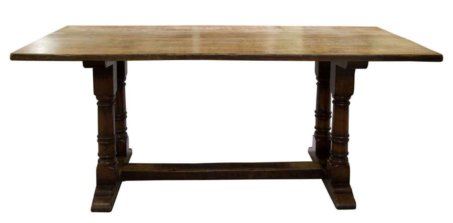 A 17thC style oak refectory table
