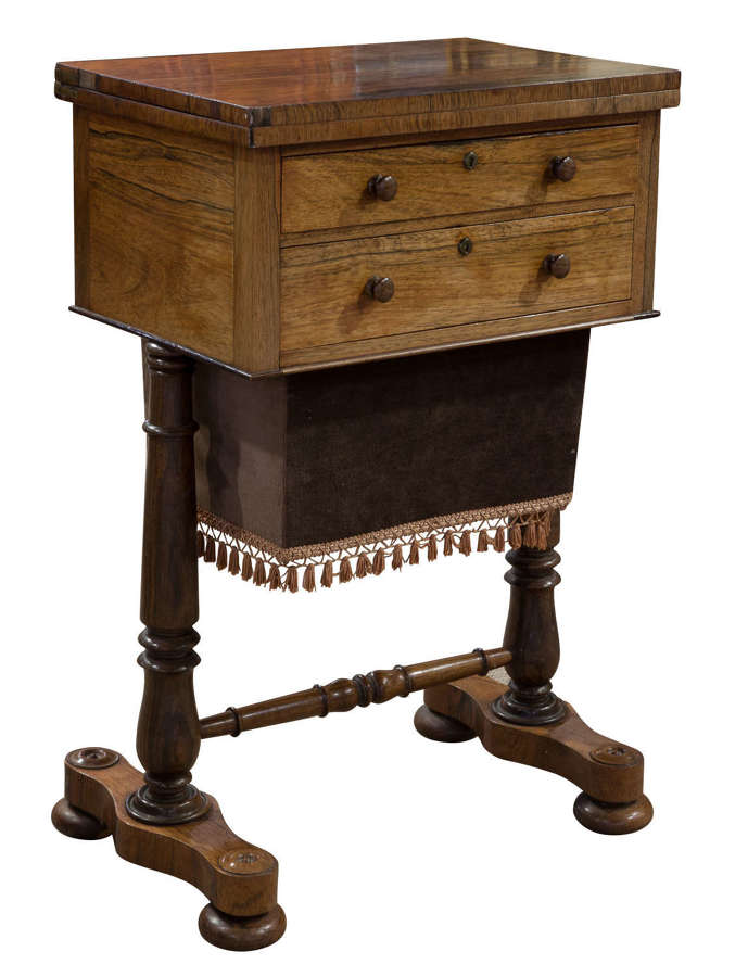 A Fine Quality Rosewood Sewing Table